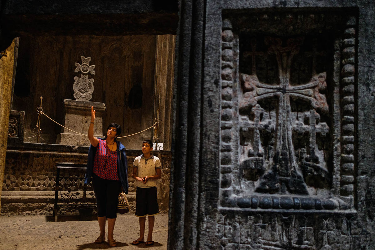 armenia_geghard_monastery_orthodox_unesco_family_visitors_sightseeing