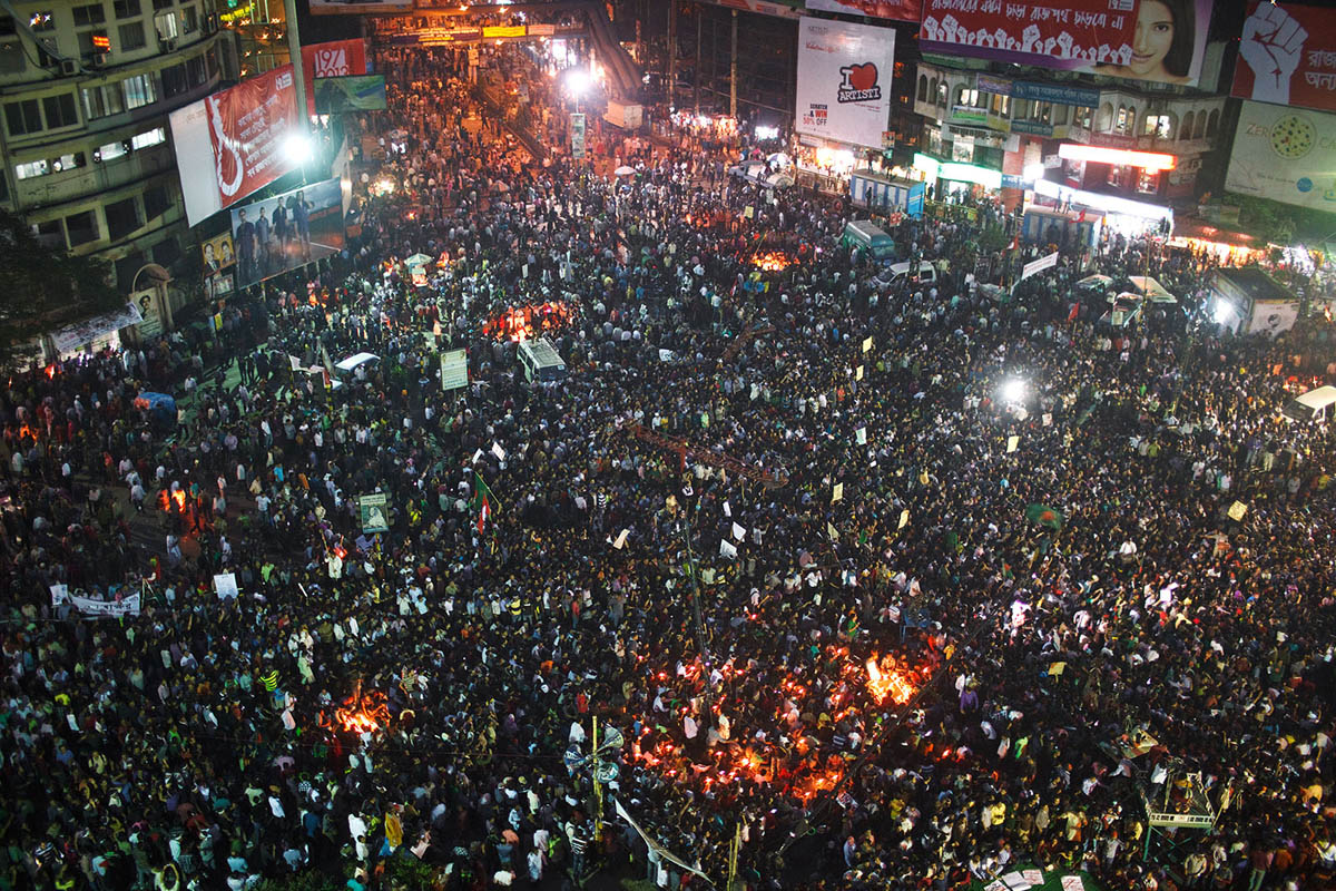 The Shahbagh rally in Dhaka, Bangladesh