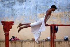 Morning Exercises- Varanasi, India.