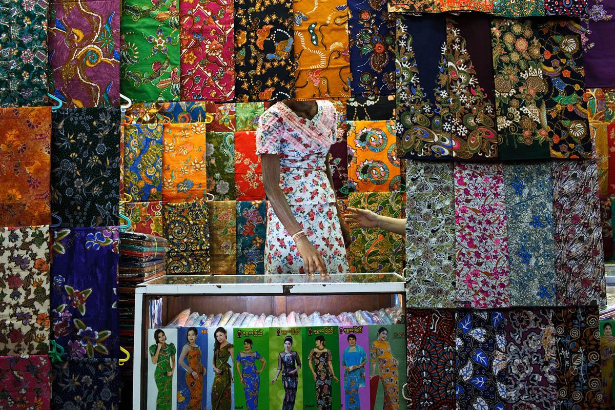 Bogyoke Aung San Market, Yangon, Myanmar.