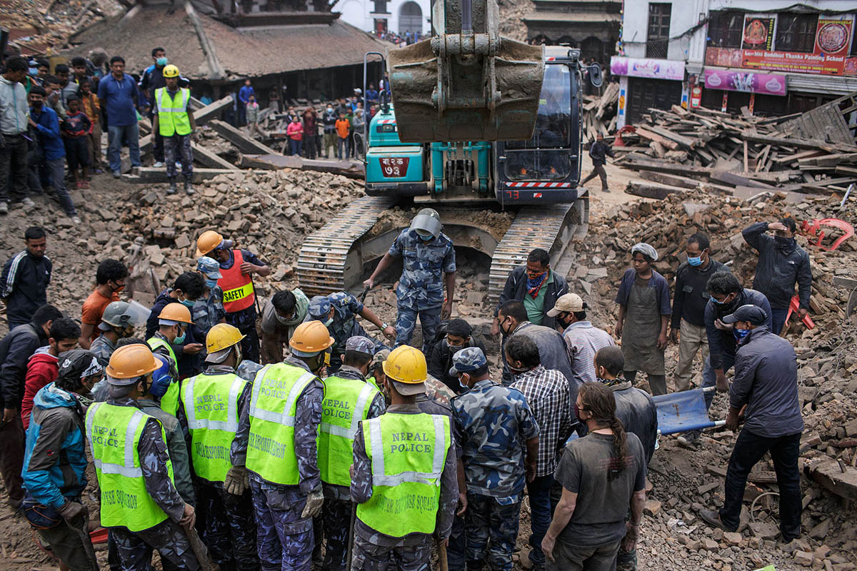 The day of the Earthquake in Kathmandu, 25 April 2015