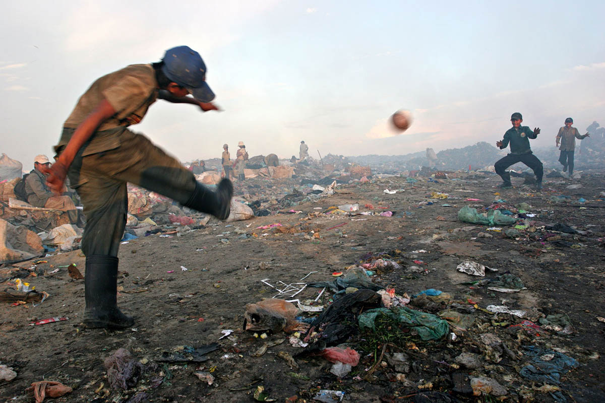 The garbage dump in Phnom Penh, Cambodia
