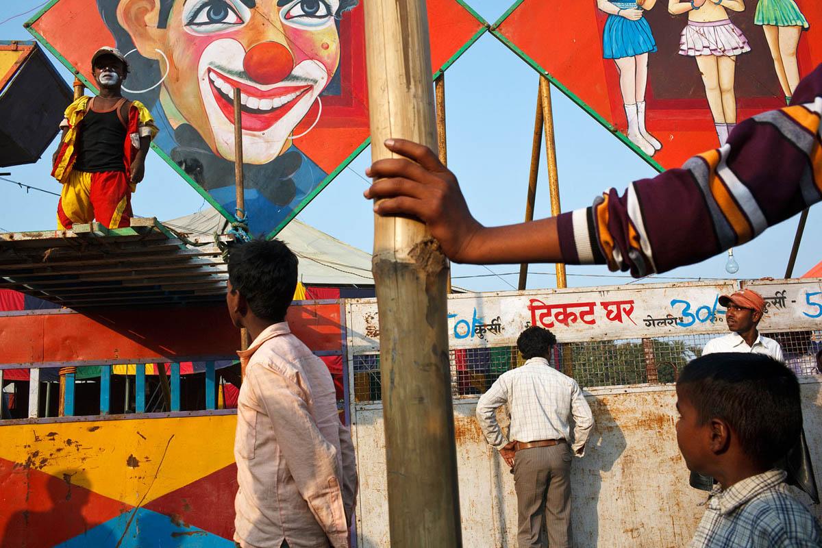 Circus at Sonepur Mela in India.