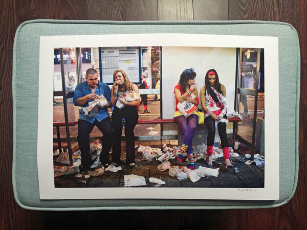maciej_dakowicz_print_art_sale_cardiff_after_dark_a3_subway_bench_epson_photo_01